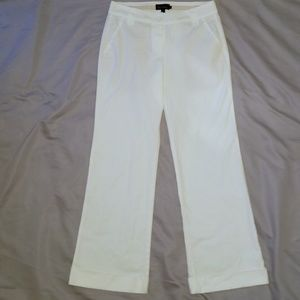 Boden White Wide Leg Cuffed Pants 12
